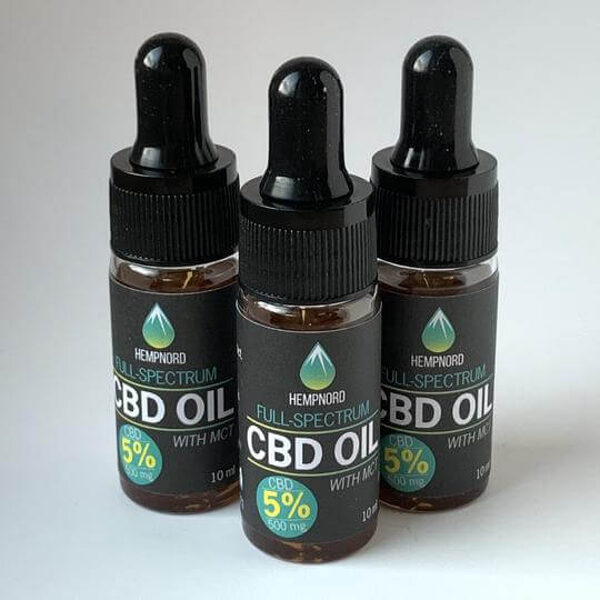 Hempnord Full Spectrum 5% CBD oil with MCT, 10 ml