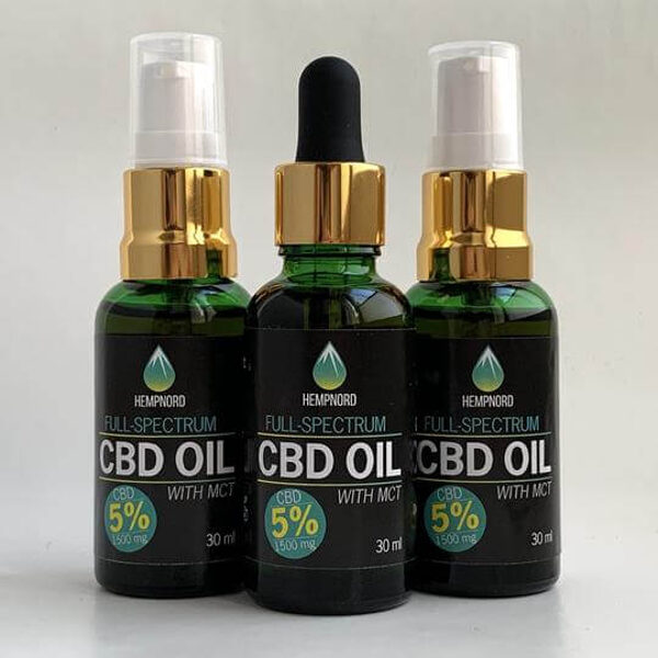 Hempnord Full Spectrum 5% CBD oil with MCT, 30 ml